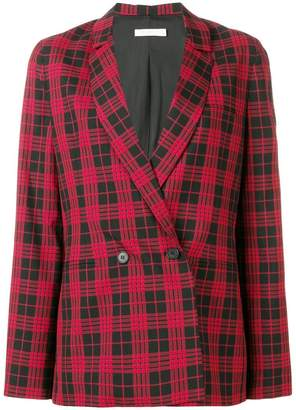 6397 Double Breasted Plaid Blazer