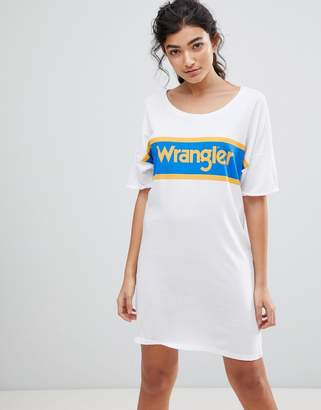 Wrangler Blue and Yellow Logo T-Shirt Dress