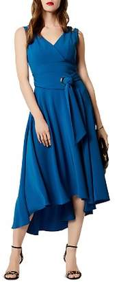 Karen Millen Belted High/Low Midi Dress