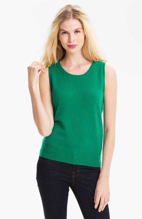 Only Mine Sleeveless Cashmere Shell