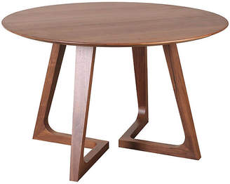 "One Kings Lane Minerva 47"" Round Modern Dining Table - Walnut"