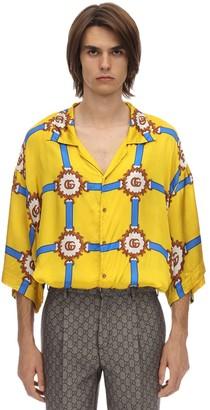 Gucci Oversize Printed Viscose Bowling Shirt