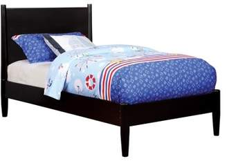 Furniture of America Farrah Mid-Century Wooden Twin Bed, Multiple Colors