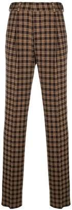 Fendi knit check trousers