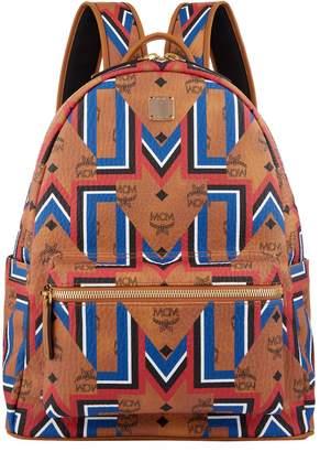 MCM Stark Geometric Print Backpack