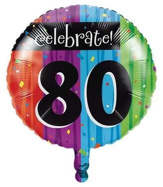 Creative Converting Milestone Celebrations 80th Birthday Mylar Balloon