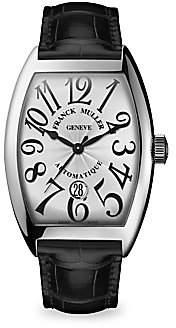 Franck Muller Women's Cintree Curvex 55MM Stainless Steel Alligator Strap Watch
