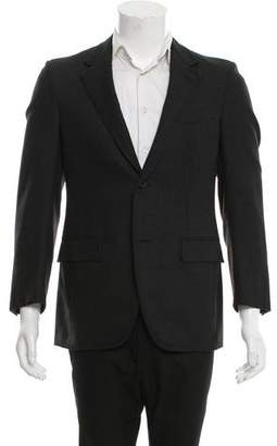 Lanvin Grosgrain-Trimmed Wool Blazer