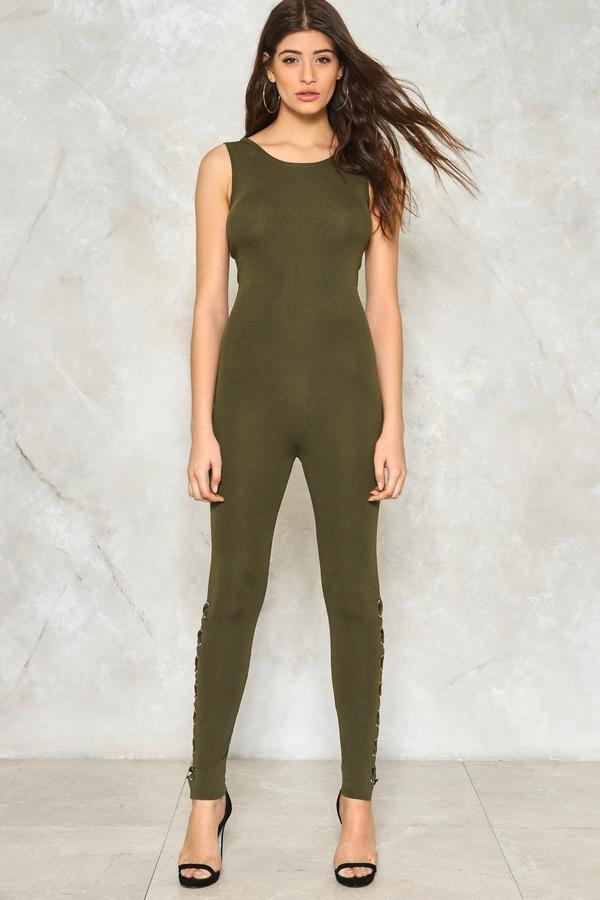nastygal Lace-Up to No Good Reversible Jumpsuit
