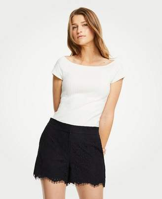 Ann Taylor Petite High Waisted Lace Shorts