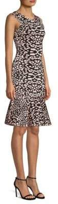 Herve Leger Animal Print Sheath Dress