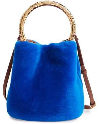 Marni Genuine Shearling Bucket Bag