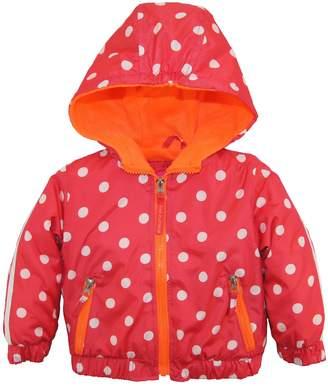 Pink Platinum Baby Girls' Nb Polka Dot Active Jacket with Fleece Lining