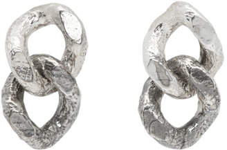 Pearls Before Swine Silver Double Sliced Link Earrings