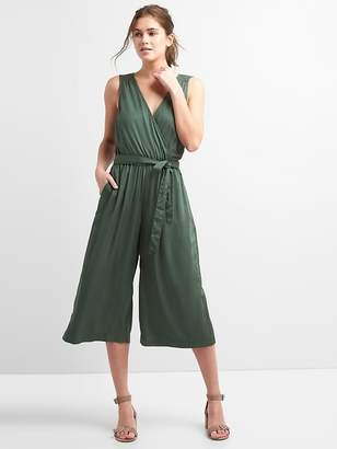 Gap Sleeveless Wrap Jumpsuit in Modal