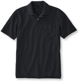L.L. Bean L.L.Bean Premium Double L Polo, Hemmed Short-Sleeve with Pocket