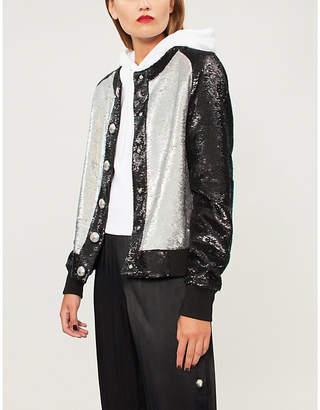 Balmain Two-tone sequinned jacket