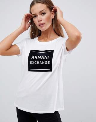 Armani Exchange t-shirt with box logo