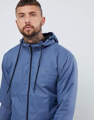 Nicce London windbreaker logo jacket in blue