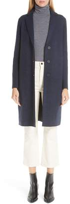 Harris Wharf London Herringbone Wool Coat
