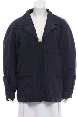 Chanel Notch-Lapel Zip-Up Jacket