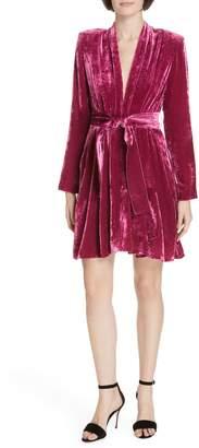 A.L.C. Kiera Crushed Velvet Minidress