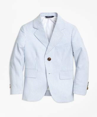Brooks Brothers Two-Button Seersucker Prep Jacket