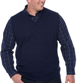 Claiborne Mens V Neck Sweater Vest Big and Tall