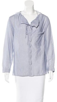 Vanessa Bruno Long Sleeve Button-Up Top $65 thestylecure.com