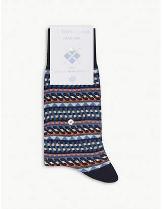 Burlington Graphic cotton socks