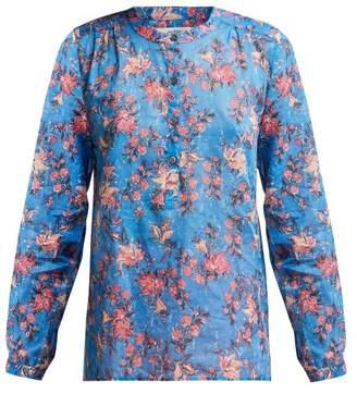 Etoile Isabel Marant Maria Floral Print Cotton Shirt - Womens - Blue