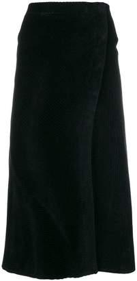 Cédric Charlier flared velvet skirt