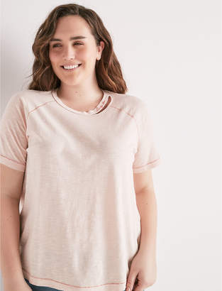 Lucky Brand Lucky You Destructed Tee