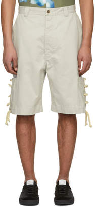 Acne Studios Bla Konst Off-White Kling Shorts