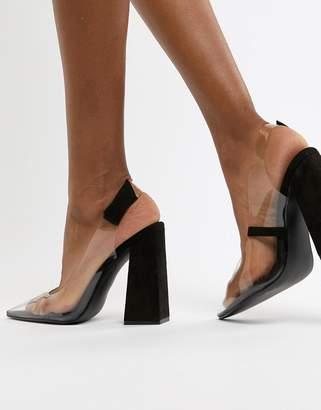 3f8161f914e Clear Block Heel Shoes - ShopStyle UK