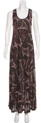 Lanvin Animal Print Casual Maxi Dress