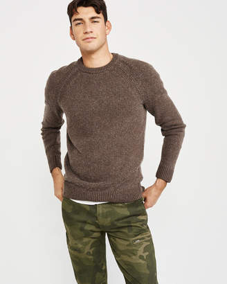 Abercrombie & Fitch Classic Merino Wool Blend Sweater