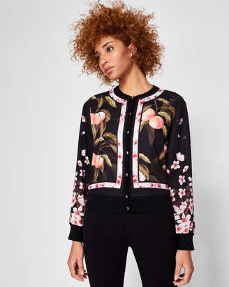 Ted Baker FLISITY Peach Blossom woven bomber jacket