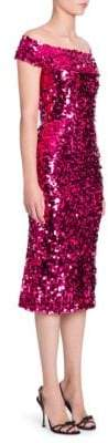 Dolce & Gabbana Off-The-Shoulder Sequin Dress
