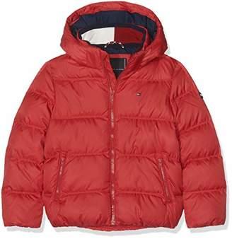 8c5e985d Tommy Hilfiger Boy's Essential Basic Down Jacket Jacket, Red (Apple 627), (