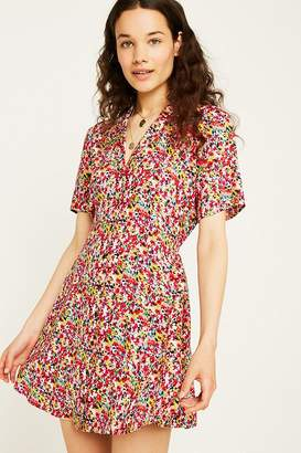Urban Renewal Vintage Remnants Bright Ditsy Tea Dress