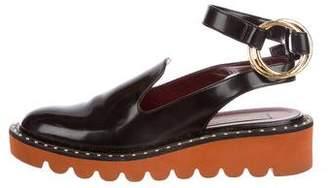 Stella McCartney Odette Vegan Ankle-Strap Flats