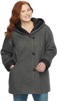 Gallery Plus Size Hooded Fleece Jacket