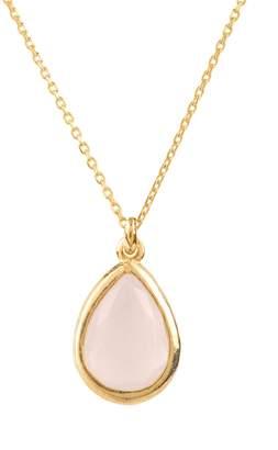 Latelita - Pisa Mini Teardrop Necklace Gold Rose Quartz