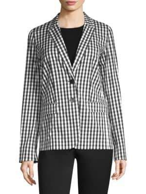 Vangie Checkered-Print Blazer