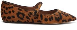 Hermione Leopard Calf Hair Flats - Womens - Leopard