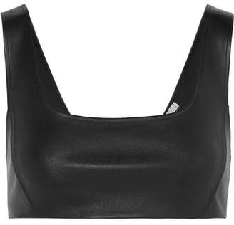 Alexander Wang Stretch-leather Bra Top - Black