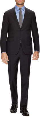 Canali Wool Solid Notch Lapel Suit