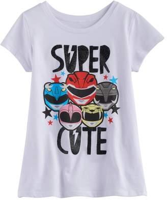 "Girls 7-16 Power Rangers ""Super Cute"" Glitter Graphic Tee"