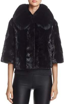 Maximilian Furs Fox Fur-Collar Saga Mink Fur Coat - 100% Exclusive